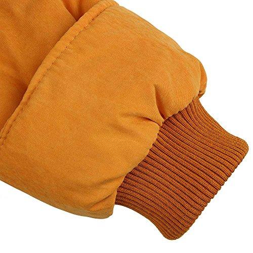 Tasche Gialle In Sottile Di Forma Girano giù Medio Wadded Con Cappotto Outwear Più Inverno Spesso Donne Mirray Cintura Con Dimensioni lungo Grandi Fq1Rfgg