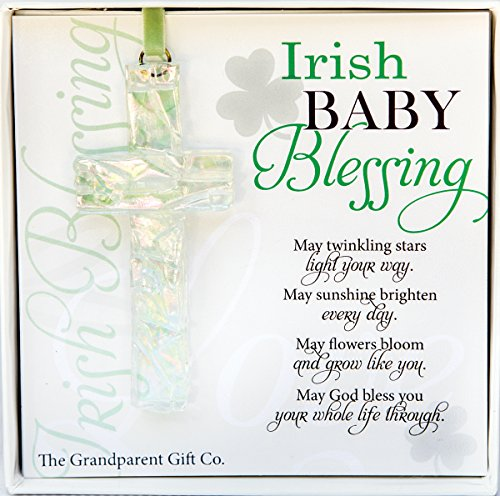 The Grandparent Gift Irish Baby Blessing Mosaic Handmade Cross