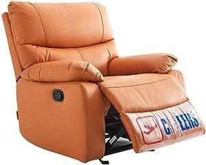 HOMRanger Multifunction Leisure Couch,rotatable Swing Massage Sofa Waterproof Adjustable Backrest Side Chair Luxury Leather Elastic Sponge Chair-Orange 85x75x92cm(33x30x36inch)