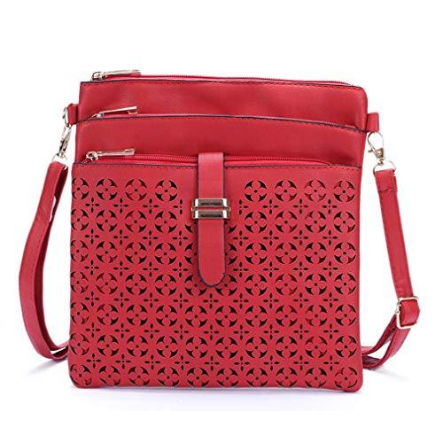 Bolso Light Cruzado Red para Size One Brown pequeño Bolso Bolsas Mujer Mensajero de 8YYUqw