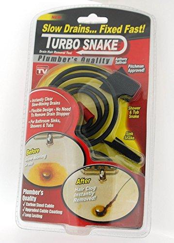 Nueva utilidad desatascar fregadero Bañera Desatascador Turbo serpiente Desagüe Hair Remover: Amazon.es: Hogar