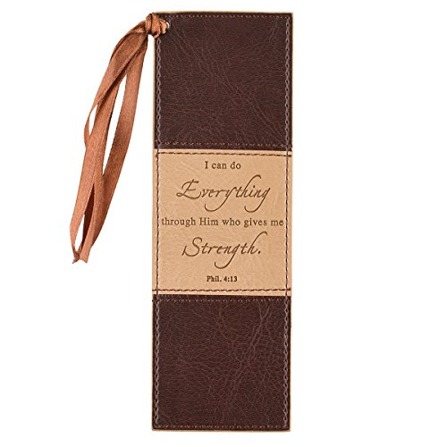 Two-tone Faux Leather Pagemarker / Bookmark - Philippians - Christian Bookmarks