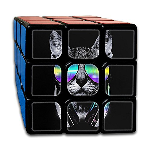 ColorSee Cool Cat With Glasses Rubik's Cube 3x3 Brain Training Game Magic Cube For Kids Or Adults With New Vivid - Glasses 3d Toronto