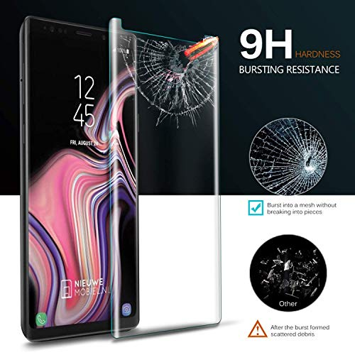 Galaxy Note 9 Screen Protector, Tempered Glass Screen Protector 3D Curved 9H Hardness HD Clear Anti-Scratch Tempered Glass Film Screen Protector Compatible Samsung Galaxy Note 9 (Clear) by my-handy-design (Image #2)