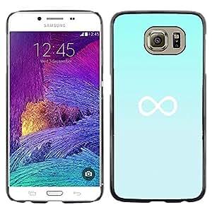 FlareStar Colour Printing Infinity Mathematics Blue Minimalist cáscara Funda Case Caso de plástico para Samsung Galaxy S6 / SM-G920 / SM-G920A / SM-G920T / SM-G920F / SM-G920I