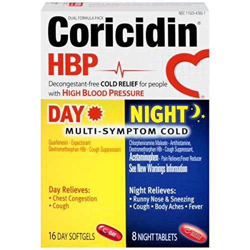 Coricidin HBP Day/Night Tab, 24-Count Boxes