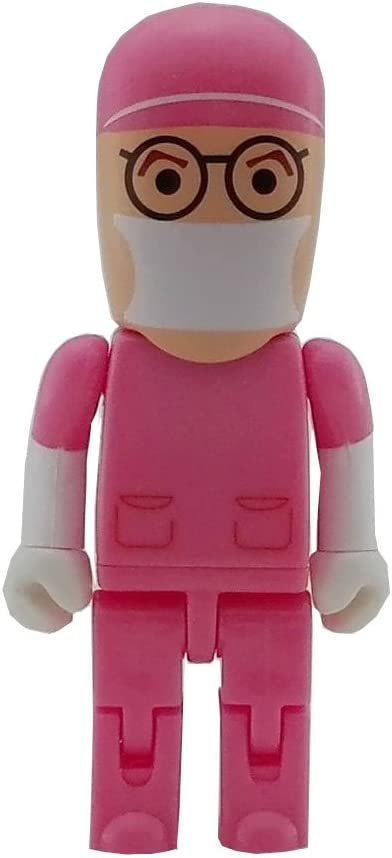aneew 32GB Pendrive Rosa médico cirujano Robot USB Flash Drive de memoria Thumb Stick