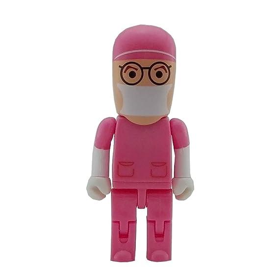 Amazon.com: Aneew Pink Hat 16GB Doctor Surgeon Robot USB Flash Drive ...