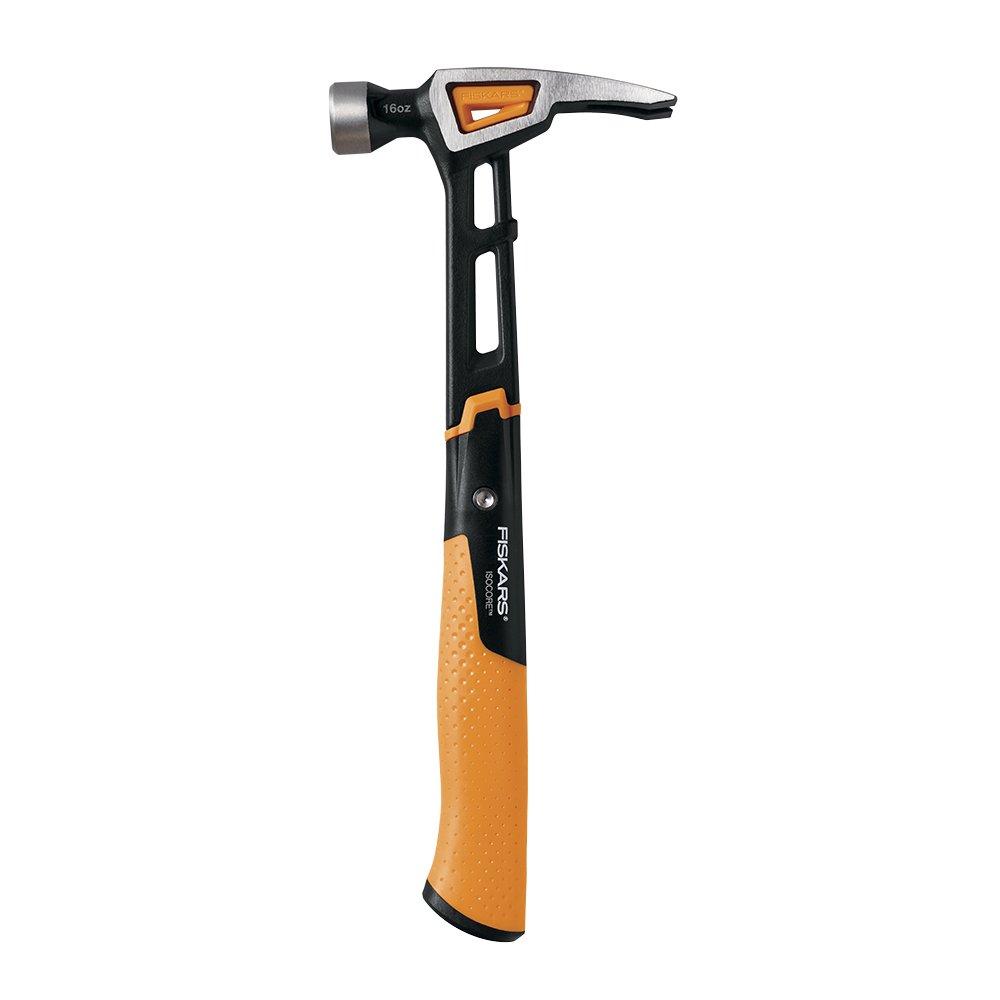 Fiskars IsoCore 16 oz Rip Claw Finishing Hammer, 13.5 Inch