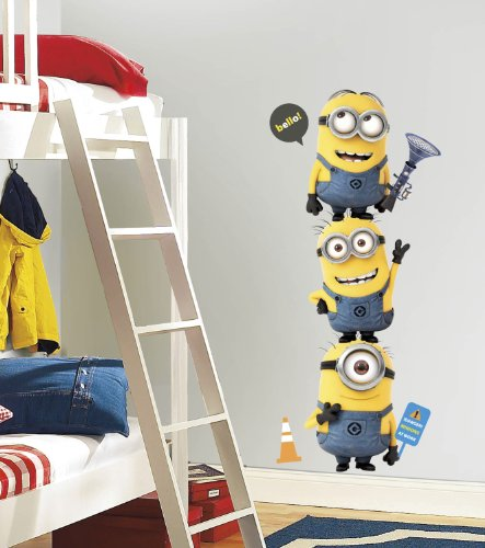(Despicable Me 2 Movie Minions Giant Wall Decals)