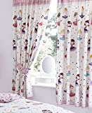 BALLERINA BALLET DANCER GIRLS LUXURY LINED CURTAINS SET 66' X 54' 137cm PINK NEW