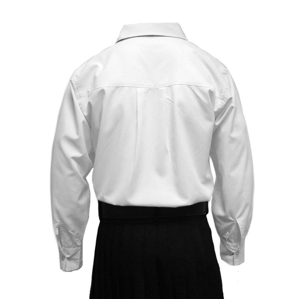 Tartanista White Scottish Highland Jacobite/Jacobean Ghillie Shirt Sizes S - 3XL at Amazon Mens Clothing store: Button Down Shirts
