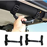 Opar Roll Bar Grab Handles for 1995-2018 Jeep Wrangler YJ TJ JK (Black,Pack of 2)
