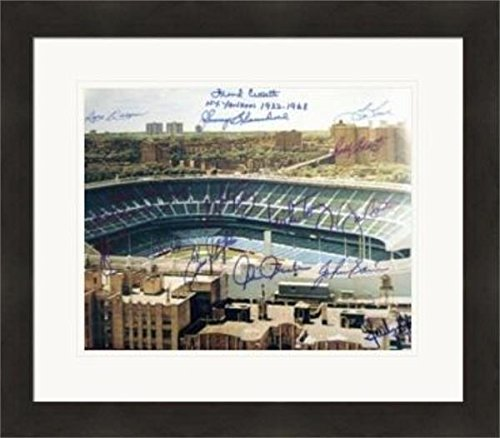 - New York Yankees Stadium autographed 11x14 photo by 16 players Don Larsen, Frank Crosetti, Goose Gossage, Bucky Dent, Etc Matted & Framed