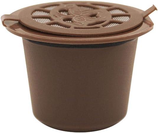 Akaddy Reutilizable Recarga de cápsulas de café Filtros Shell para cafetera Nespresso (café): Amazon.es: Hogar