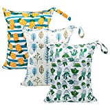 Babygoal Wet Dry Bags for Baby Cloth Diapers, Washable Travel Bags, Beach, Pool