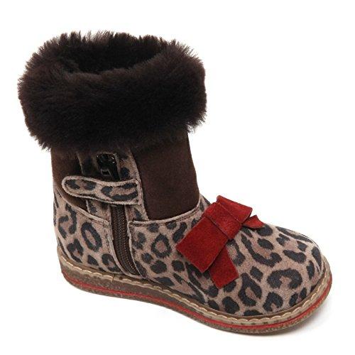 Bimba Kid Marron Pelo Boot Monnalisa Interno Suede Girl B6360 Stivale EqFqw1p8