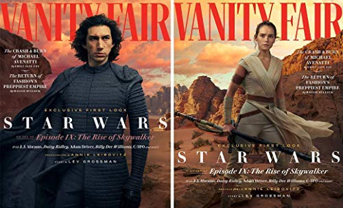 - Vanity Fair Magazine (Summer, 2019) Star Wars Episode IX The Rise Of Skywalker Adam Drivers Daisy Ridley BOTH COVERS