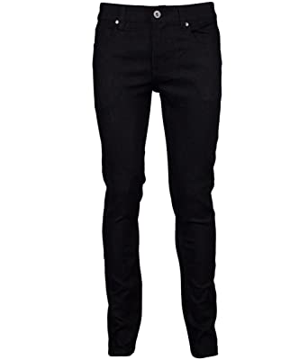 ac5b091f Kayden K Skinny Jeans Mens Denim Pants (34Wx32L, Black Black) at ...