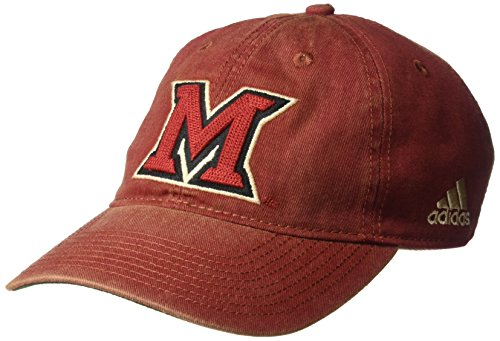 adidas NCAA Nebraska Cornhuskers Men's Adjustable Slouch, Red, One Size