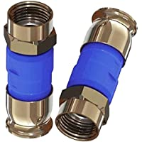BELDEN Blue RG6 Snap-N-Seal Compression Connectors (Bag of 50)