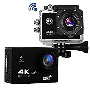 sports action camera 4k ultra hd 16 0mp wifi waterproof camcorder 2 0 inch screen. Black Bedroom Furniture Sets. Home Design Ideas