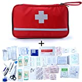 First Aid Kit (207 Pieces) Waterproof Reflective Emergency Medical Bag Complete Emergency Preparedness Kit Equipment Sets for Home, Office, Outdoors, Hiking, Camping, Car, School, Travel