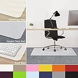 casa pura Office Chair Mats for Carpeted Floors - 30''x48'' | Carpet Protector Floor Mat, Opaque | Matching Desk Mats Available
