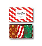 Happy Socks Red & White Gift Box Brown,Green,Red,White 41-46