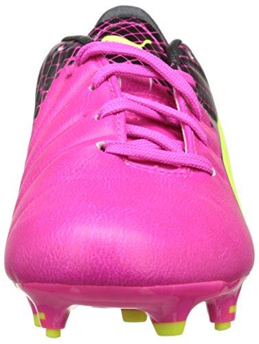 PumaEvopower 3.3 Tricks Fg Jr - Zapatillas de Fútbol Entrenamiento  Unisex Niños Pink (pink glo-safety yellow-black 01)