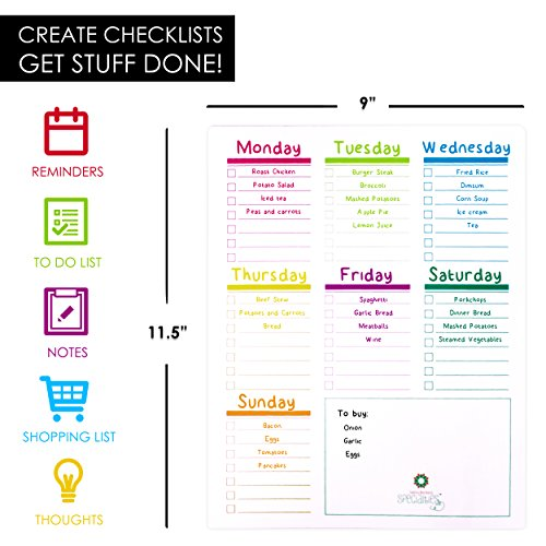 2 Magnetic Dry Erase Calendars for Refrigerator & 6 Colored Markers/Stay on Track with Your Fridge Whiteboards/Complete Set (1 Monthly, 1 Weekly and 6 Markers) by Santa Barbara Specialties (Image #3)