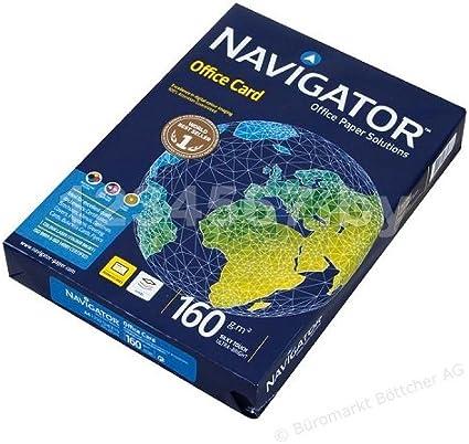 Caja 1250 Folios Navigator Office Card 5x Paquete 250 hojas 160 g ...