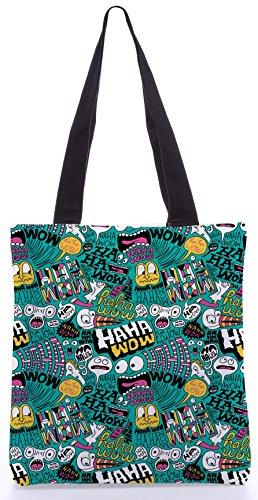 Snoogg Wir Liebe Comics13.5 x 15 Zoll-Shopping-Dienstprogramm-Einkaufstasche aus Polyester-Segeltuch gemacht