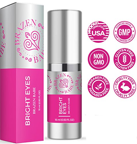 Eye Cream,''Bright Eyes'' by Brazen Babe- Eliminates Dark Circles, Puffiness, Fine Lines & Wrinkles-Scientifically Proven, Natural Moisturizing Treatment Brightens and Tightens by Brazen Babe