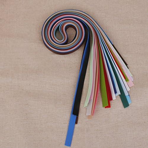 Non-brand 18本1Yard混合色グログランリボンギフトボウクラフト用DIYの装飾6ミリメートル
