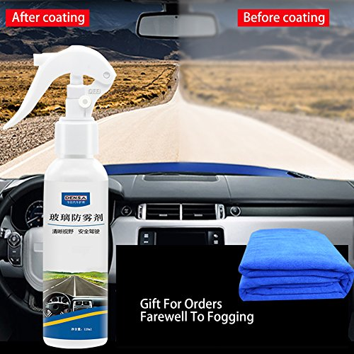 Anti Fog Spray, Glass Anti-Fog Agent Automobile Front Window Glass Anti Mist for Glass and Plastic Treatment Water Car Window Windshield Glasses Mirrors Helmet(With A - Update In Glasses Lenses