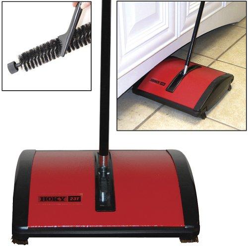 Oreck Hoky Rotorbrush Floor & Carpet Sweeper With Genuine Boar Bristle Brush