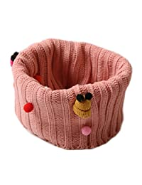 Winter Cartoon Thick Knit Soft Warm Wool Scarf Wrap, Pink