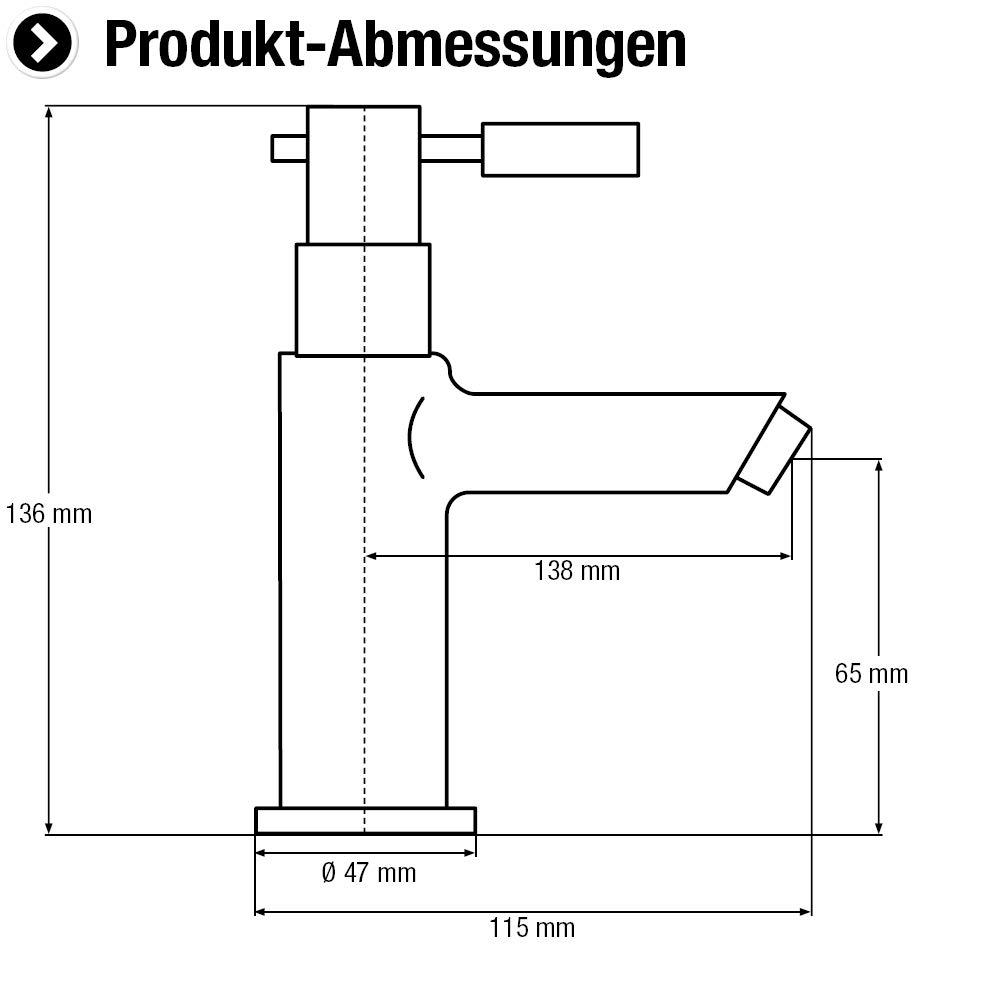 Verchromter Messingk/örper Zur Standmontage in G/äste-WC /& Keller Ger/äuscharmer Luftsprudler // Kaltwasserhahn // Wandarmatur // Eingriffarmatur // NA90 Cornat Standventil Nano