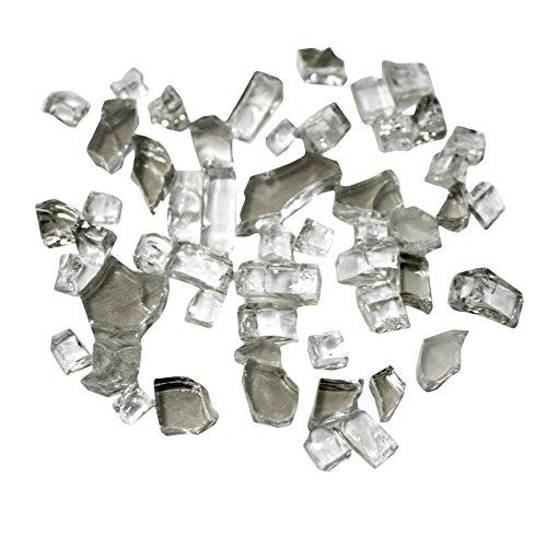 Hiland Reflective Fire Glass, 10 lb, - White Propane Fire Pit
