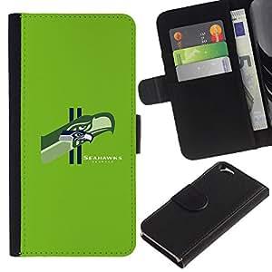 Stuss Case / Funda Carcasa PU de Cuero - Seattle Seahawk Equipo - Apple Iphone 6