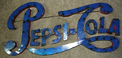 (Home Decor Recycled Tin Metal Pepsi COLA Sign Gas Oil Garage Man Cave Home Decor Soda Perfect for Your Farmhouse)