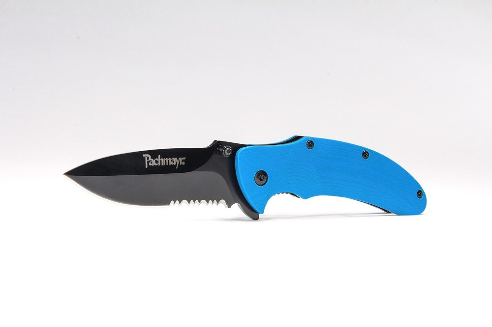 Pachmayr G10 EDC Tactical Pocket Knife 3.5in Drop Pt. Serrated 420HC Steel Blade with Heavy Duty Pocket Clip