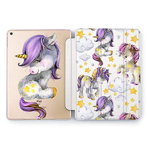 Wonder Wild Purple Unicorn iPad Case 9.7 Pro inch Watercolor Print Mini 1 2 3 4 Air 2 10.5 12.9 2018 2017 Protective Clear Animal Hard Case Design Flip Bright Horse Women Girl Cover 5th 6th Fantasy]()