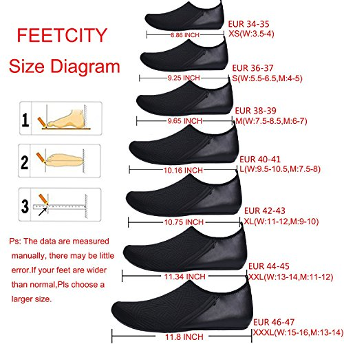 FEETCITY Pink Shoes Quick Dry Swim Surf Beach Shoes Yoga Sneakers Mens Women Water Yellow Barefoot Boat FUHwqrFxf
