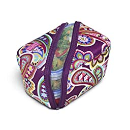 BUILT NY Bento Salad Bowl with Neoprene Sleeve, Purple Paisley