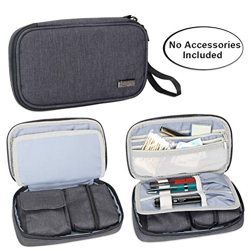 Luxja Diabetic Supplies Travel Case, Storage Bag for Glucose Meter and Other Diabetic Supplies (Bag Only), Black (Diabetes Test Kit Case)