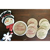 Happy Holidays, Canning Jar Lids, Jar Stickers, Gifts in a Jar, Mason Jar Labels, Jar Labels, Gift Wrapping, Set of 8