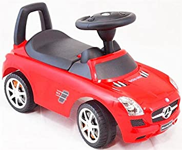 Baby Musik Ride On Push entlang Auto – Mercedes-Benz (rot)