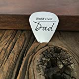 World's Best Dad Guitar Pick Gift for Dad Guitar Pick Dad Gift Father's